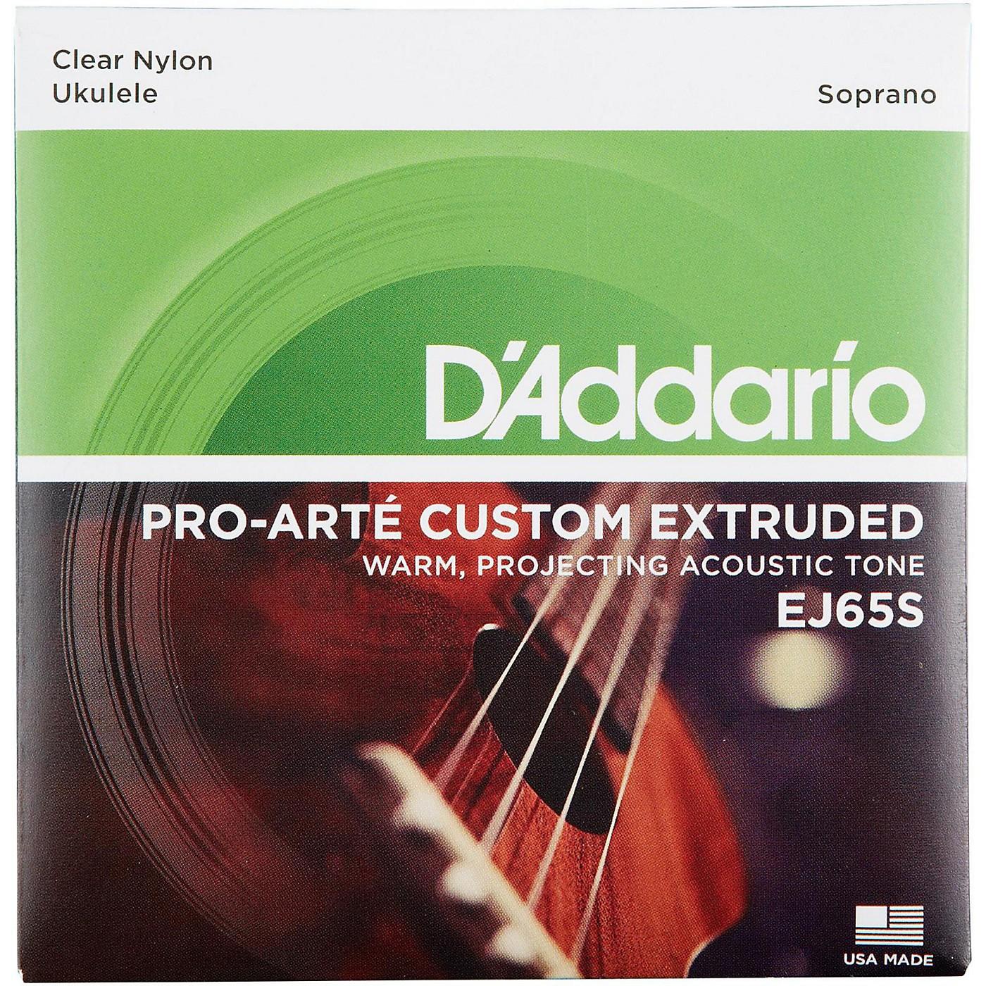 D'Addario EJ65S Pro-Arte Custom Extruded Soprano Nylon Ukulele Strings thumbnail