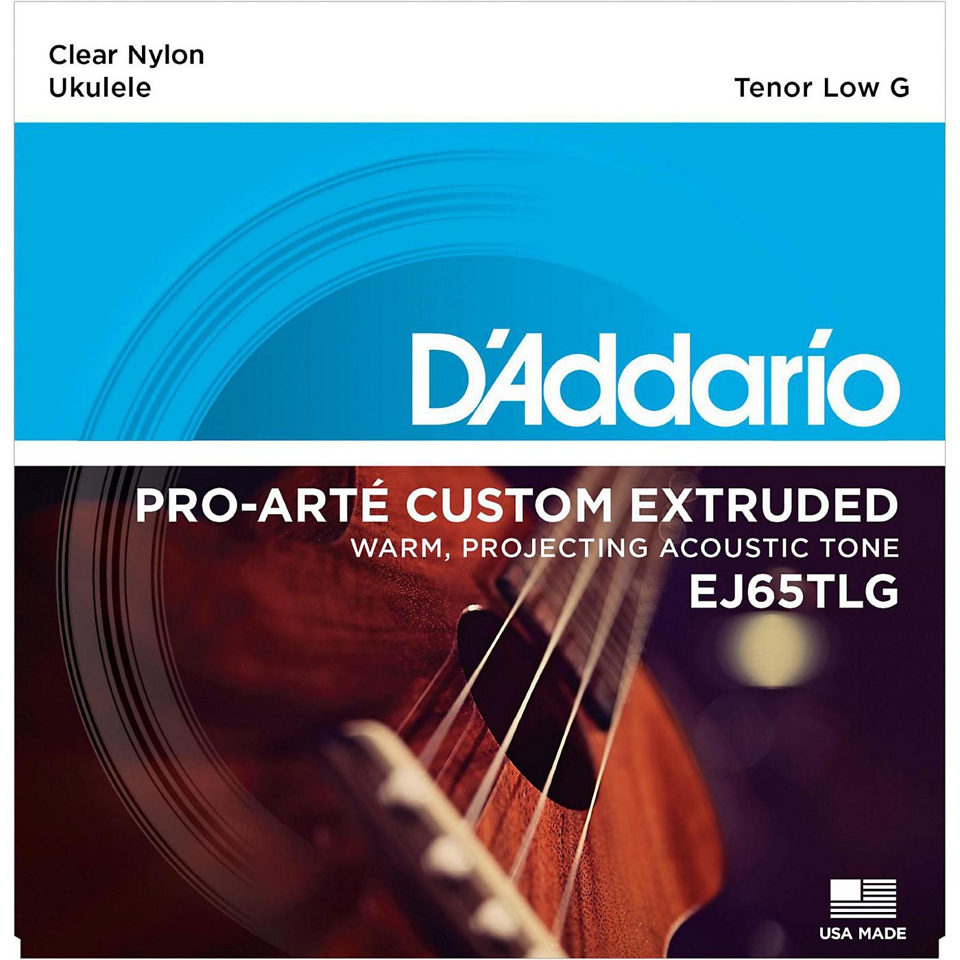 D'Addario EJ65TLG Pro-Arte Custom Extruded Tenor Low G Nylon Ukulele Strings thumbnail