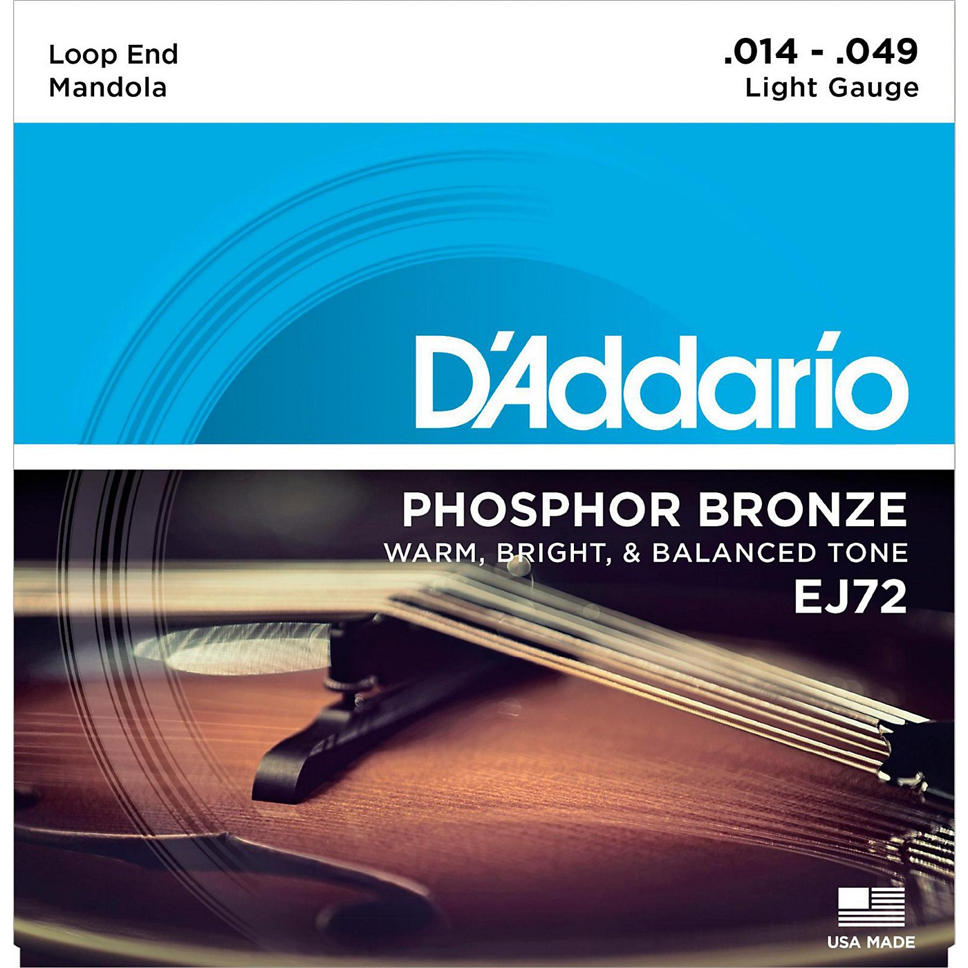 D'Addario EJ72 Phosphor Bronze Light Mandola Strings (14-49) thumbnail