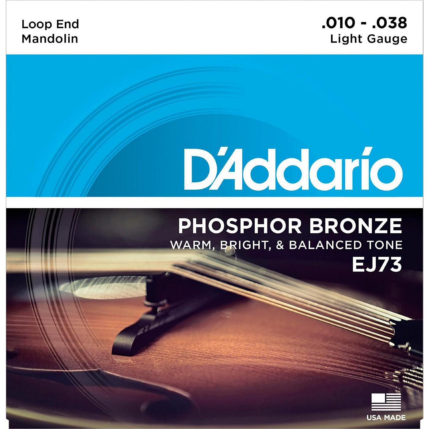 D'Addario EJ73 Phosphor Bronze Light Mandolin Strings (10-38) thumbnail