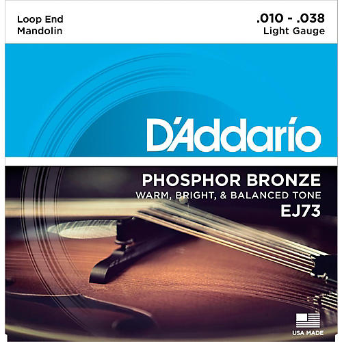 D'Addario EJ73 Phosphor Bronze Light Mandolin Strings (10-38) thumbnail