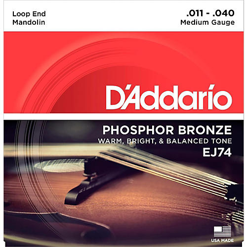 D'Addario EJ74 Phosphor Bronze Medium Mandolin Strings (11-40) thumbnail