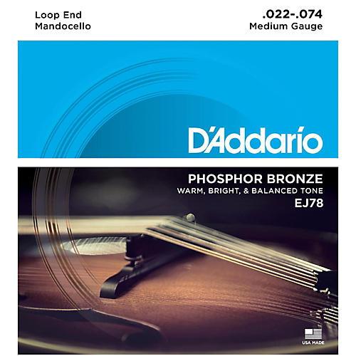 D'Addario EJ78 Phosphor Bronze Mandocello Strings (22-74) thumbnail