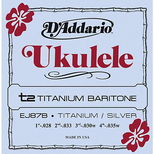 D'Addario EJ87B Titanium Baritone Ukulele Strings thumbnail