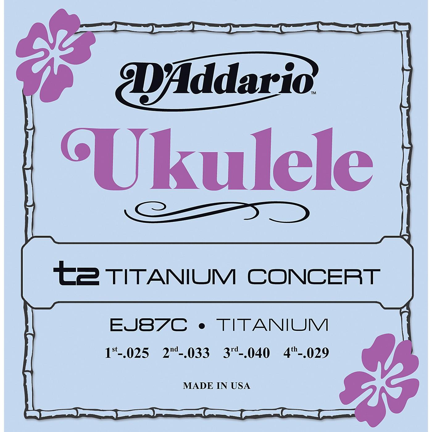 D'Addario EJ87C Titanium Concert Ukulele Strings thumbnail