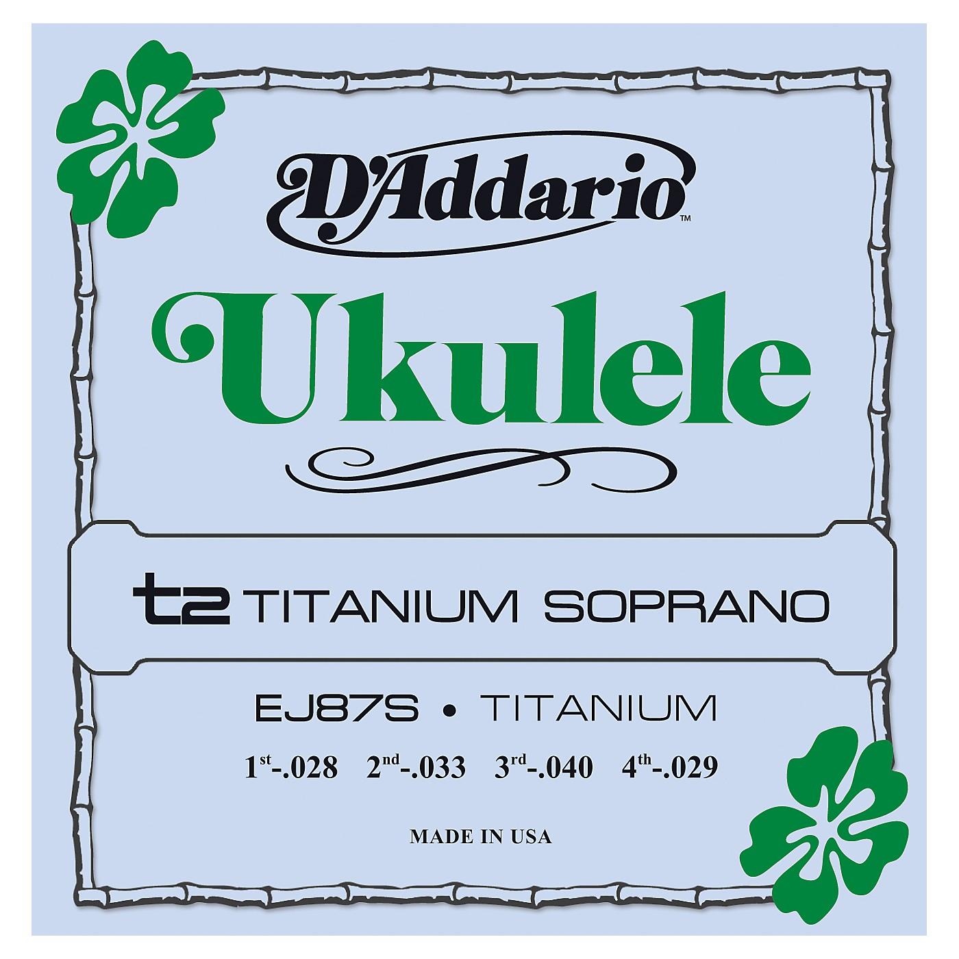 D'Addario EJ87S Titanium Soprano Ukulele Strings thumbnail