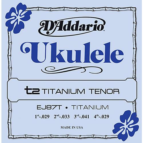 D'Addario EJ87T Titanium Tenor Ukulele Strings thumbnail