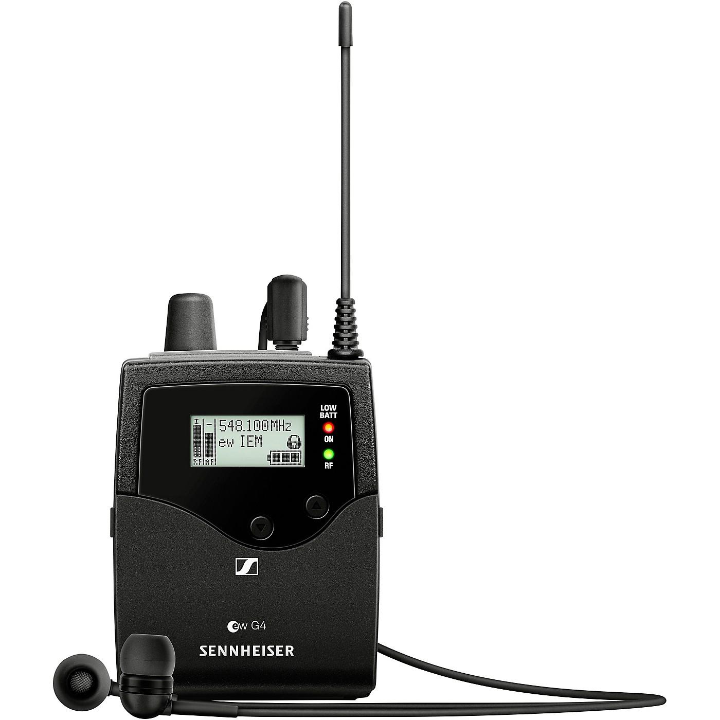 Sennheiser EK IEM G4 Stereo Bodypack Receiver with IE4 Earbuds thumbnail