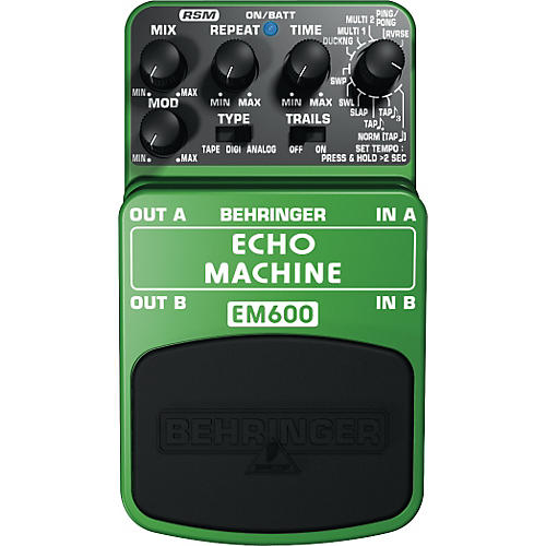 Behringer EM600 Echo Machine Echo Modeling Effects Pedal-thumbnail