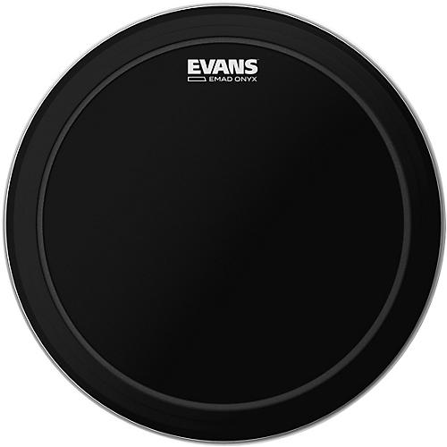 Evans EMAD Onyx Bass Batter Drumhead-thumbnail