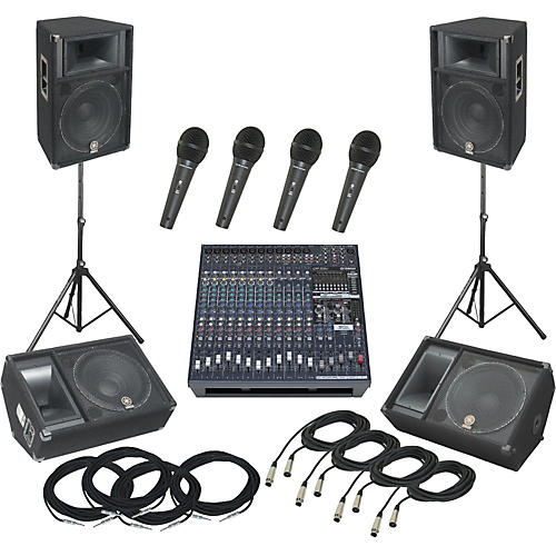 Yamaha EMX5016CF / S115V PA Package with Monitors-thumbnail
