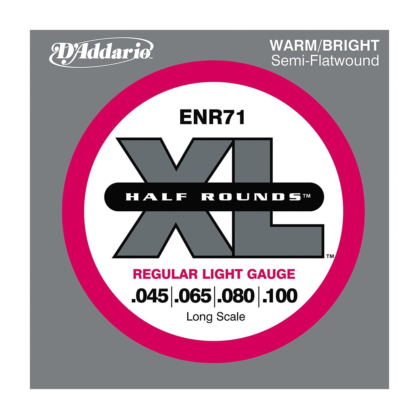 D'Addario ENR71 Half Rounds Light Bass Strings thumbnail