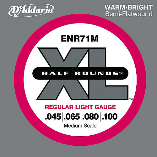 D'Addario ENR71M Half Rounds Light Bass Strings thumbnail
