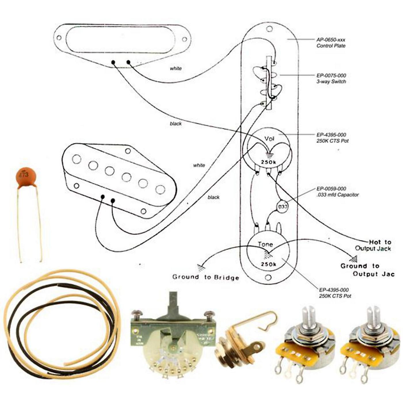 Allparts EP-4130-000 Wiring Kit for Telecaster thumbnail