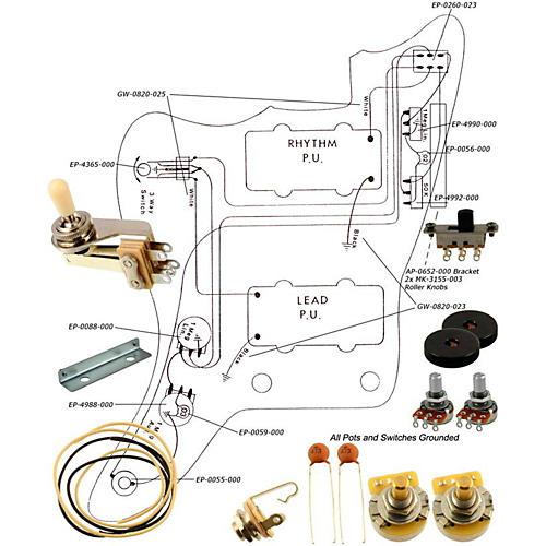 Allparts EP-4135-000 Wiring Kit for Jazzmaster thumbnail
