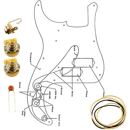 Allparts EP-4139-000 Wiring Kit for Precision Bass thumbnail