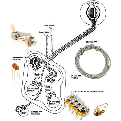 Allparts EP-4146-000 Wiring Kit for SG thumbnail