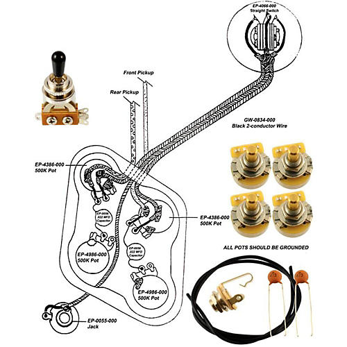 Allparts EP-4148-000 Wiring Kit for Epiphone thumbnail