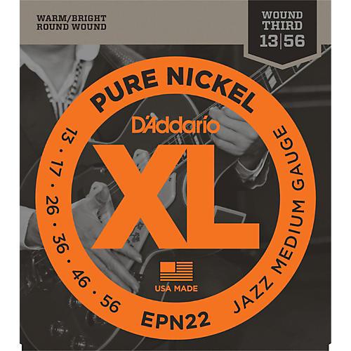 D'Addario EPN22 Pure Nickel Jazz Medium Electric Guitar Strings thumbnail