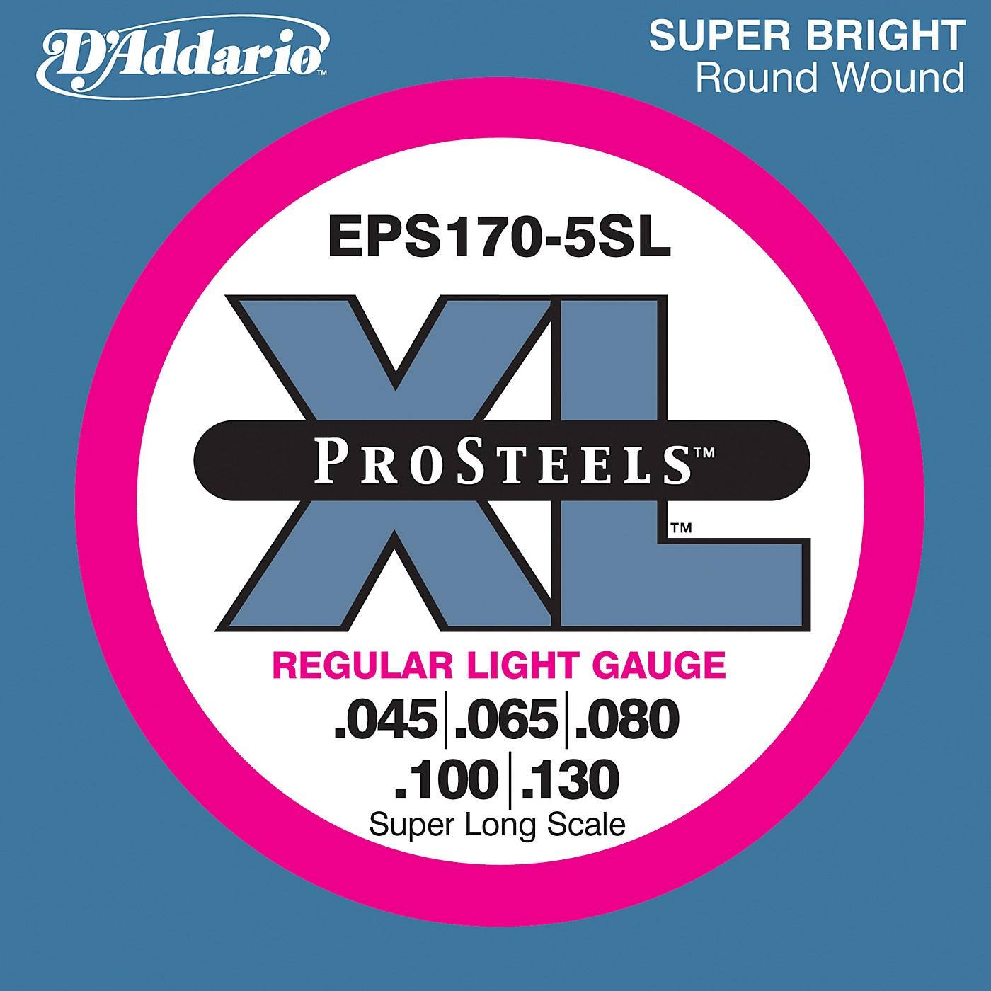 D'Addario EPS170-5SL  XL ProSteels Regular Light Super Long Scale 5-String Bass Strings thumbnail