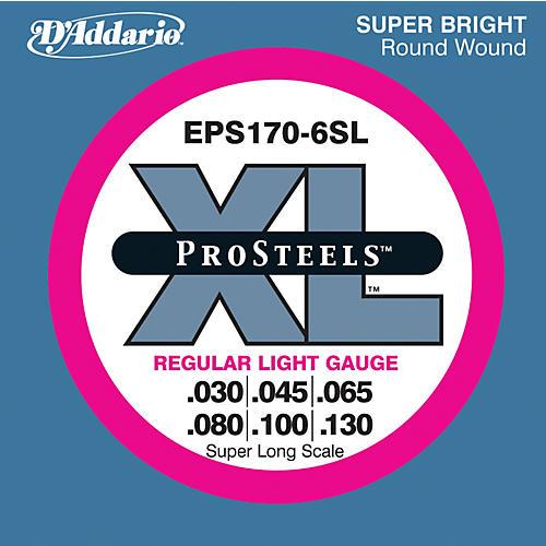 D'Addario EPS170-6SL Pro Steels Regular Light Super Long Scale 6-String Bass Strings thumbnail
