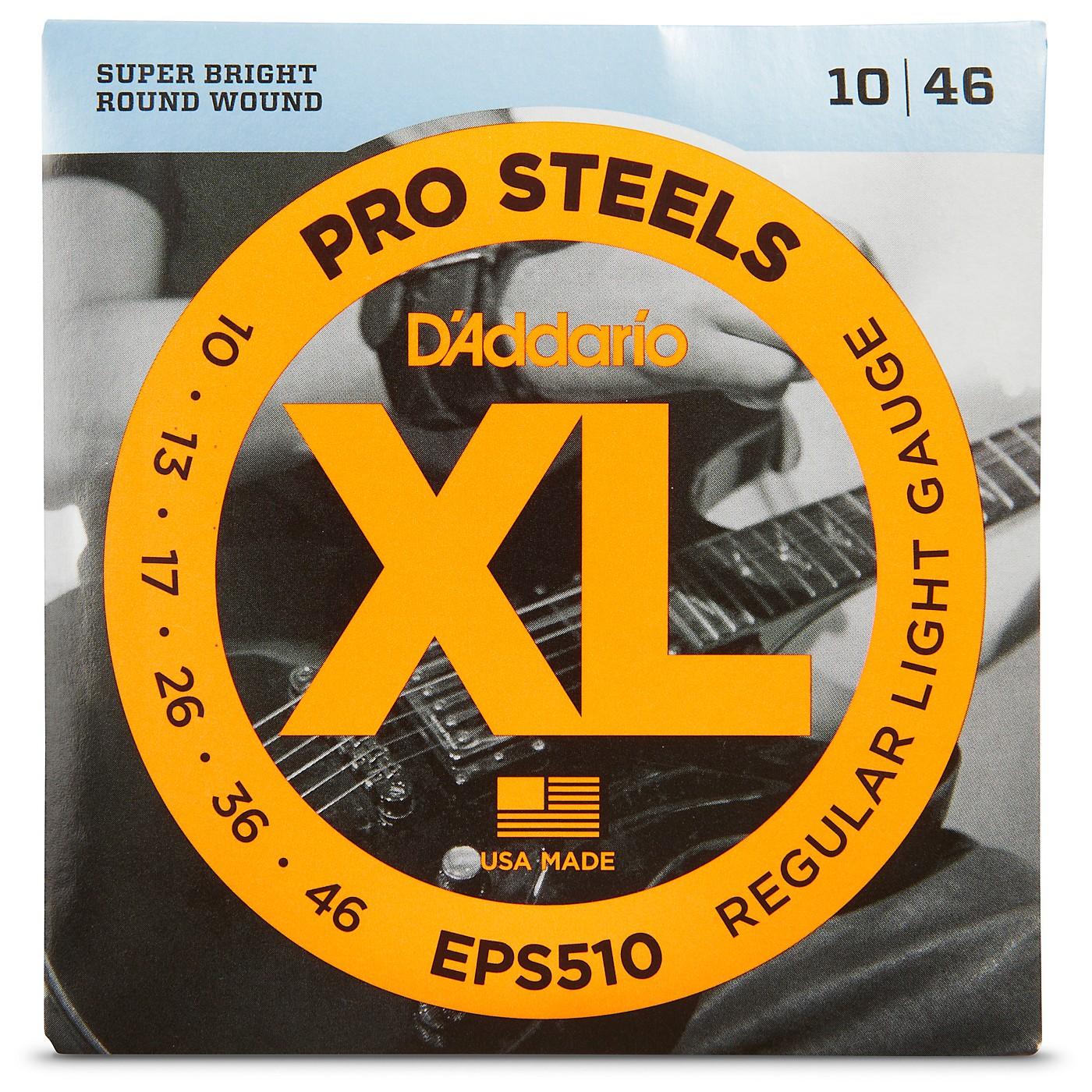 D'Addario EPS510 ProSteels Light Electric Guitar Strings thumbnail