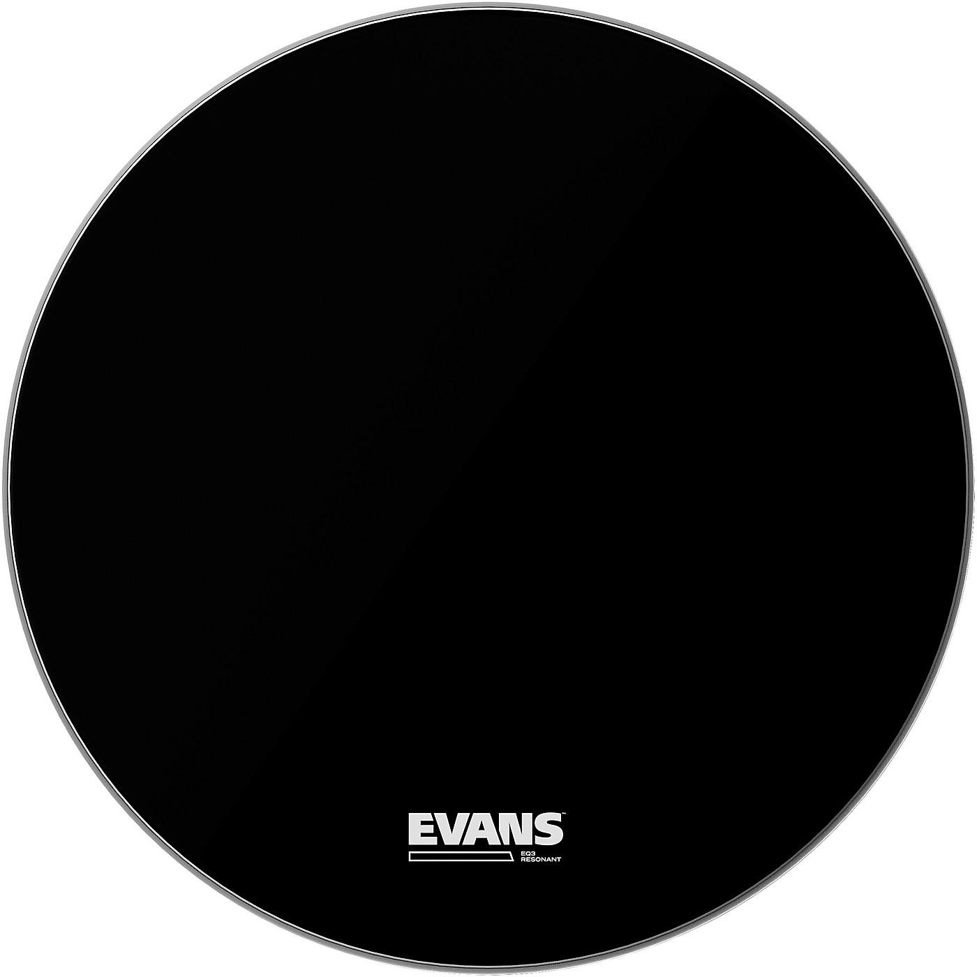 Evans EQ3 Black Resonant Bass Drumhead thumbnail