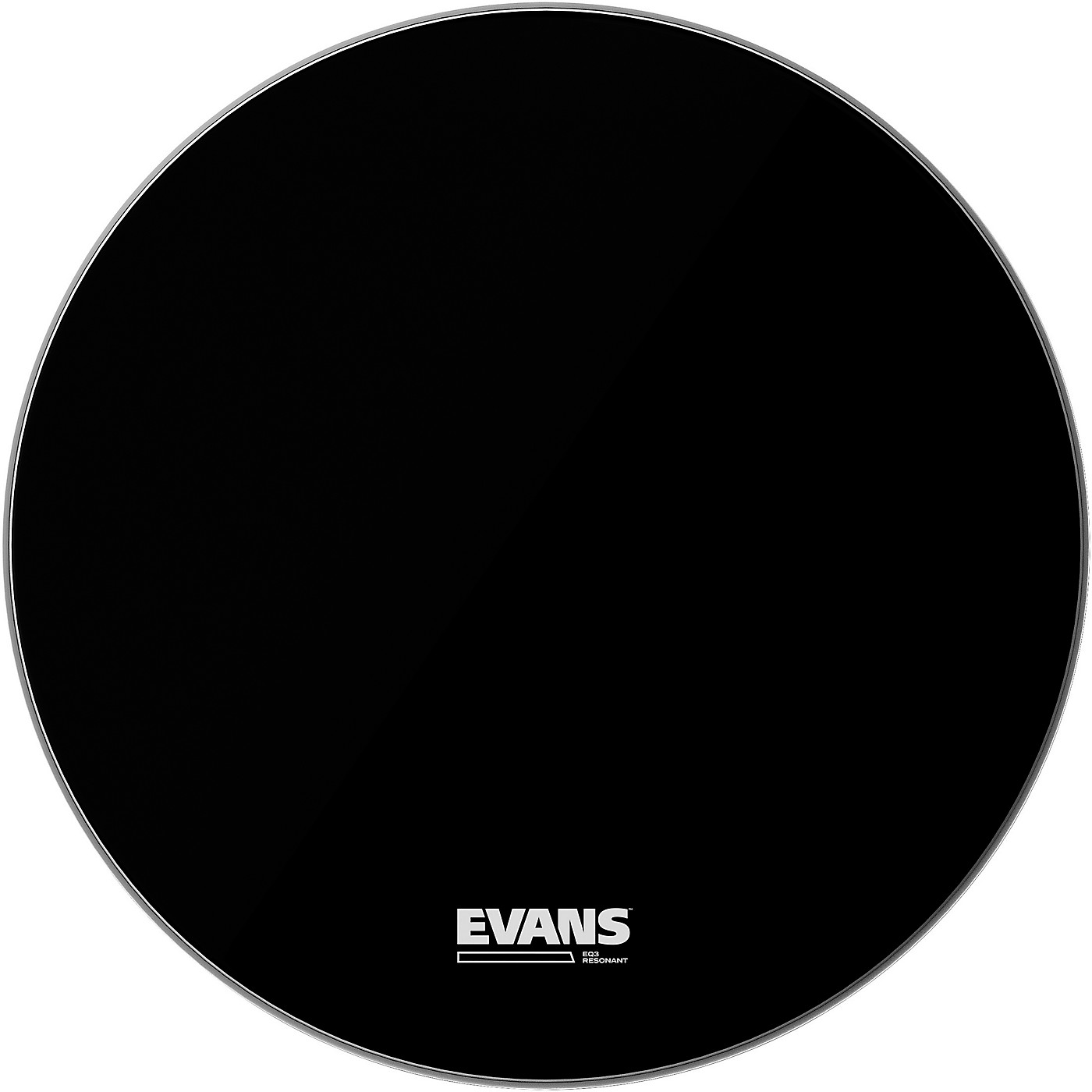 Evans EQ3 Resonant Black Tom Drumhead for Floor Tom Conversion thumbnail