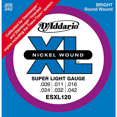 D'Addario ESXL120 Nickel Double Ball End Super Light Electric Guitar Strings thumbnail