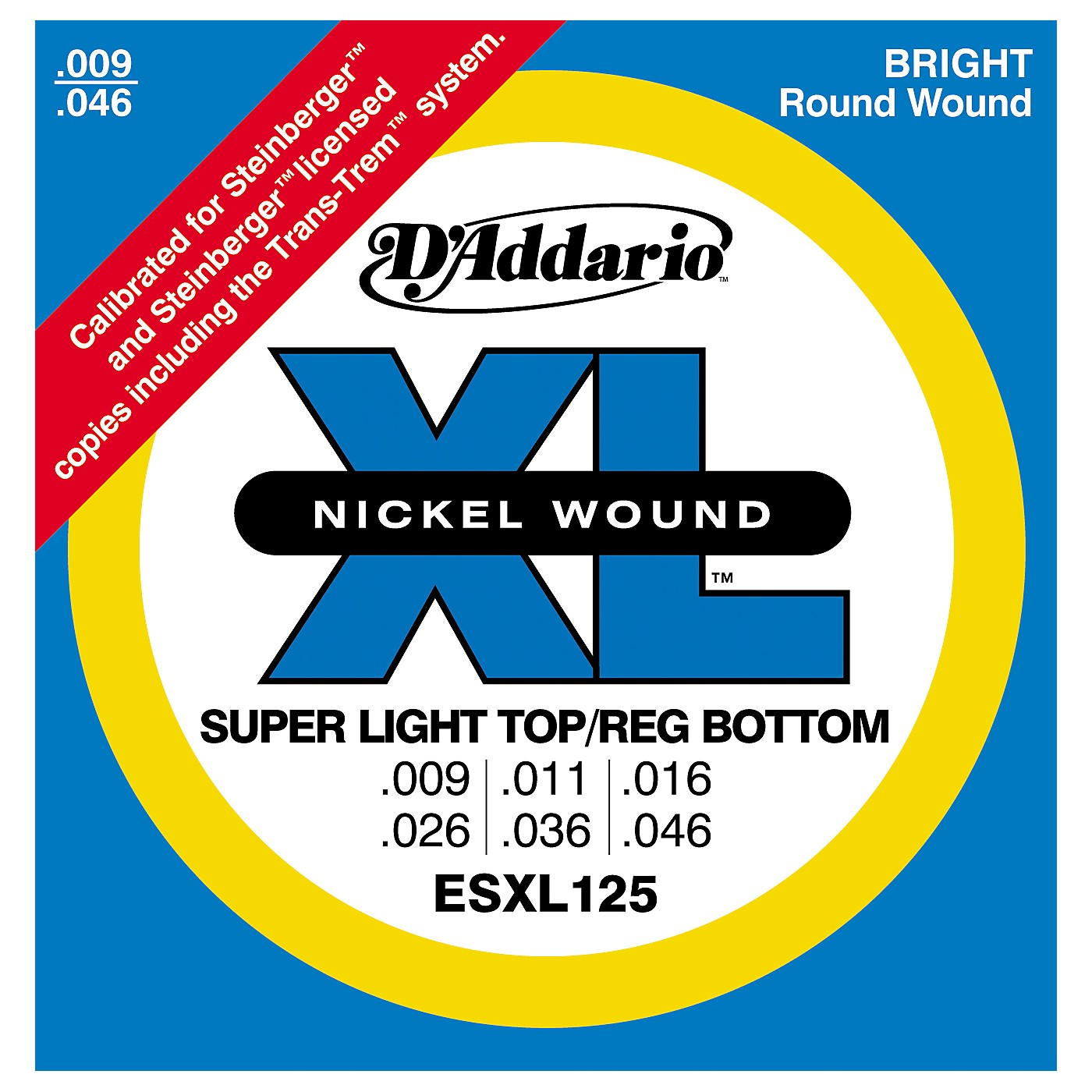 D'Addario ESXL125 Double Ball End Light/Electric Guitar Strings thumbnail