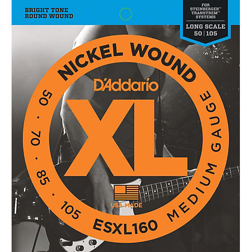 D'Addario ESXL160 Steinberger Double Ball Long Bass Guitar Strings thumbnail