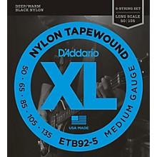 D'Addario ETB92-5 Medium Black Nylon Tapewound 5-String Bass Strings