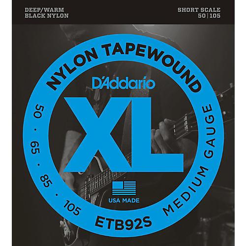 D'Addario ETB92 Black Nylon Tapewound Short Scale Bass Strings thumbnail
