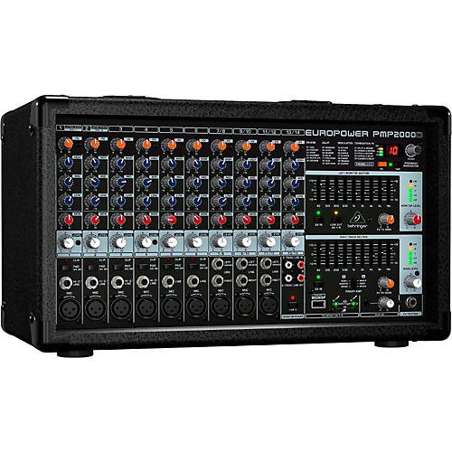 Behringer EUROPOWER PMP2000D 2,000W 14-Channel Powered Mixer with Multi-FX Processor thumbnail
