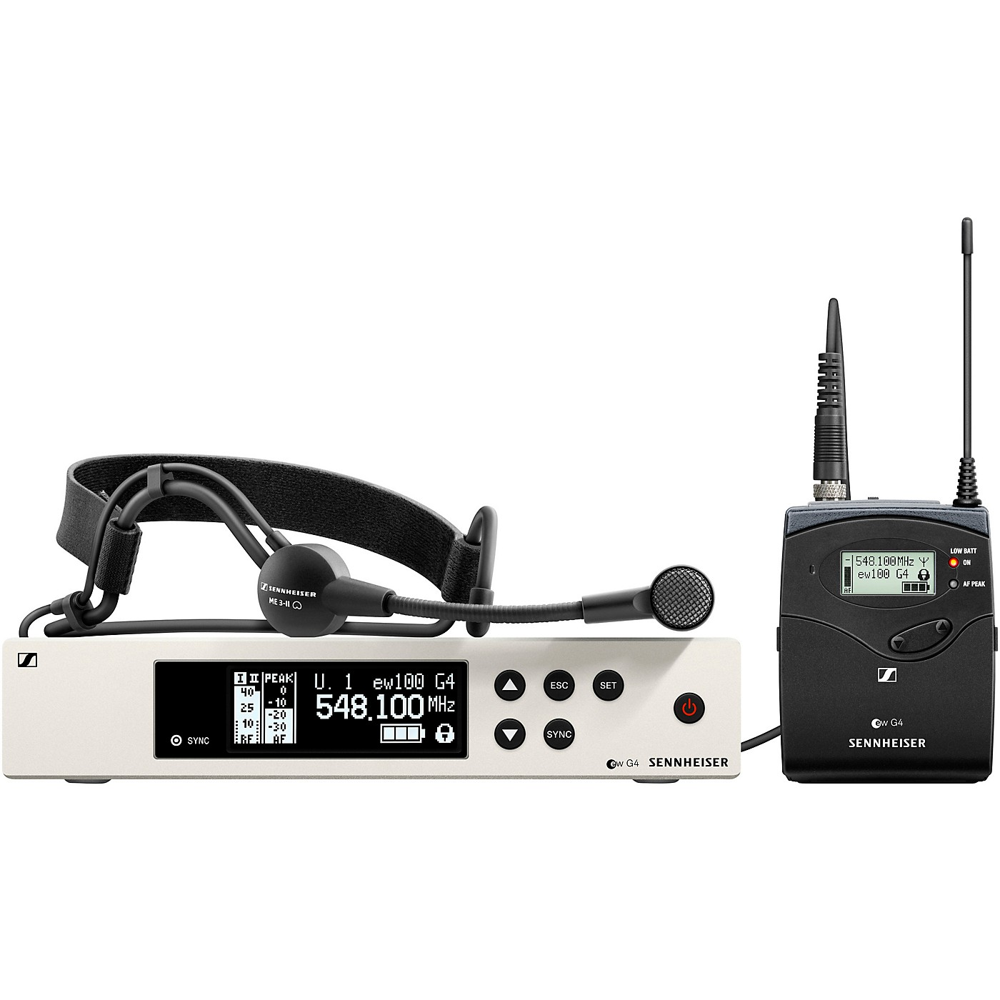 Sennheiser EW 100 G4-ME3 Wireless Headworn Microphone System thumbnail