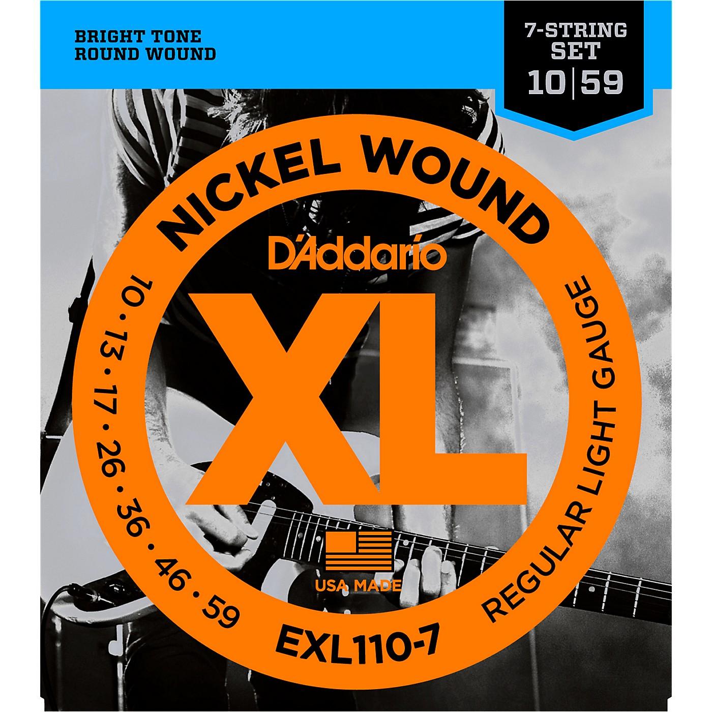 D'Addario EXL110-7 Lite 7-String Electric Guitar Strings thumbnail