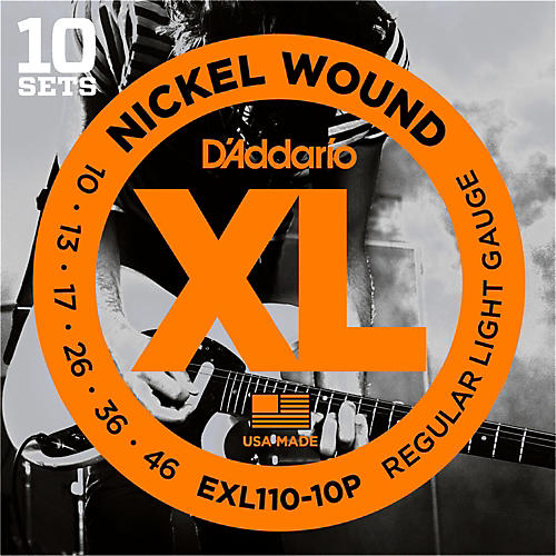 D'Addario EXL110 Nickel Light Electric Guitar Strings 10-Pack-thumbnail