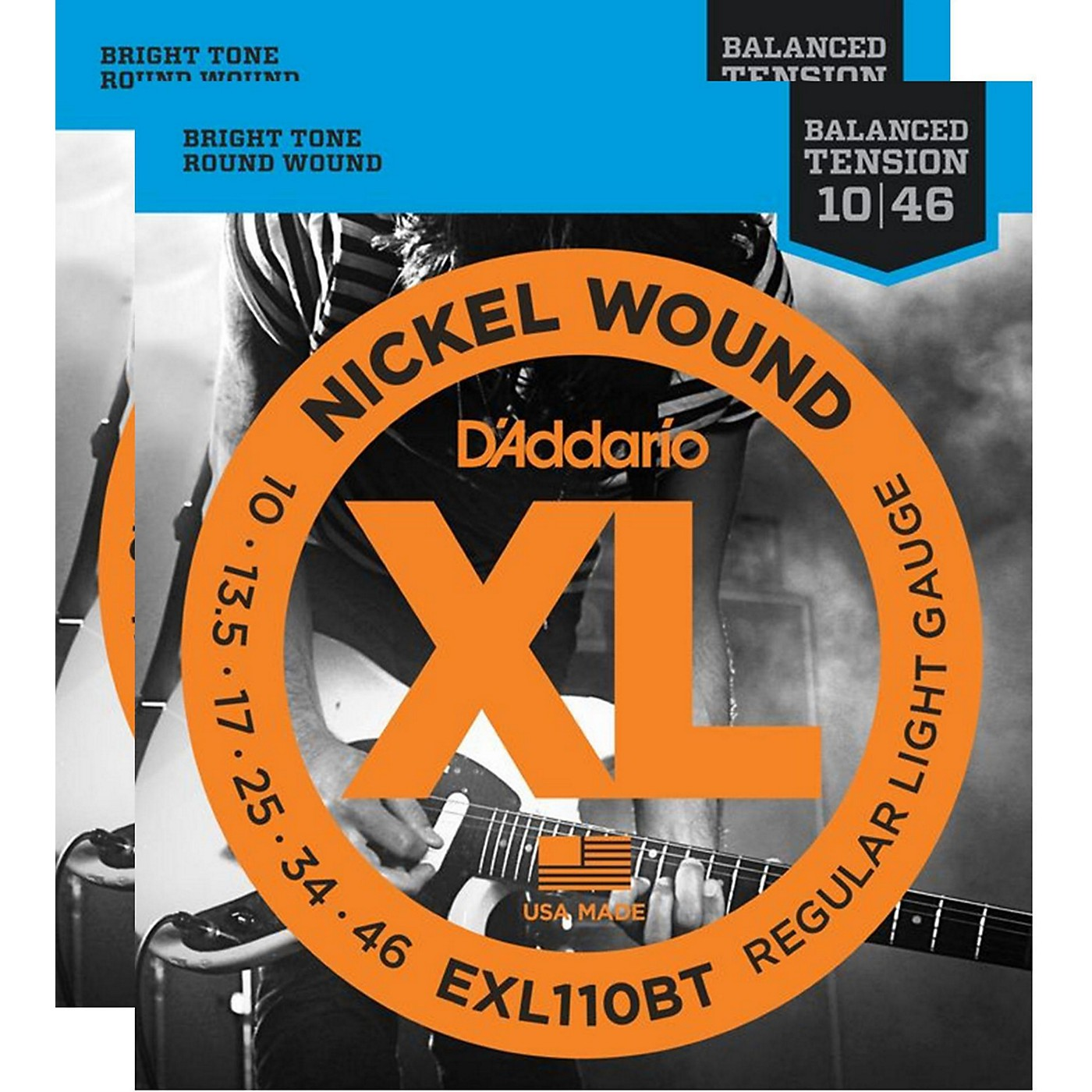 D'Addario EXL110BT Balanced Tension Lite Electric Guitar Strings (2-Pack) thumbnail