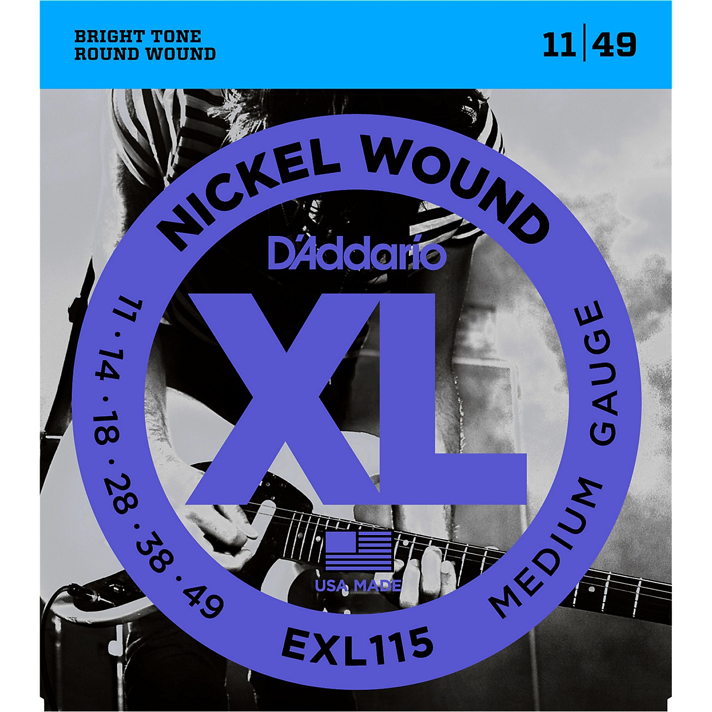 D'Addario EXL115 Medium Gauge Guitar Strings Single-Pack thumbnail