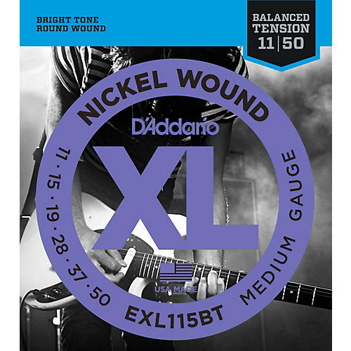 D'Addario EXL115BT Balanced Tension Medium Electric Guitar Strings - Single Pack thumbnail