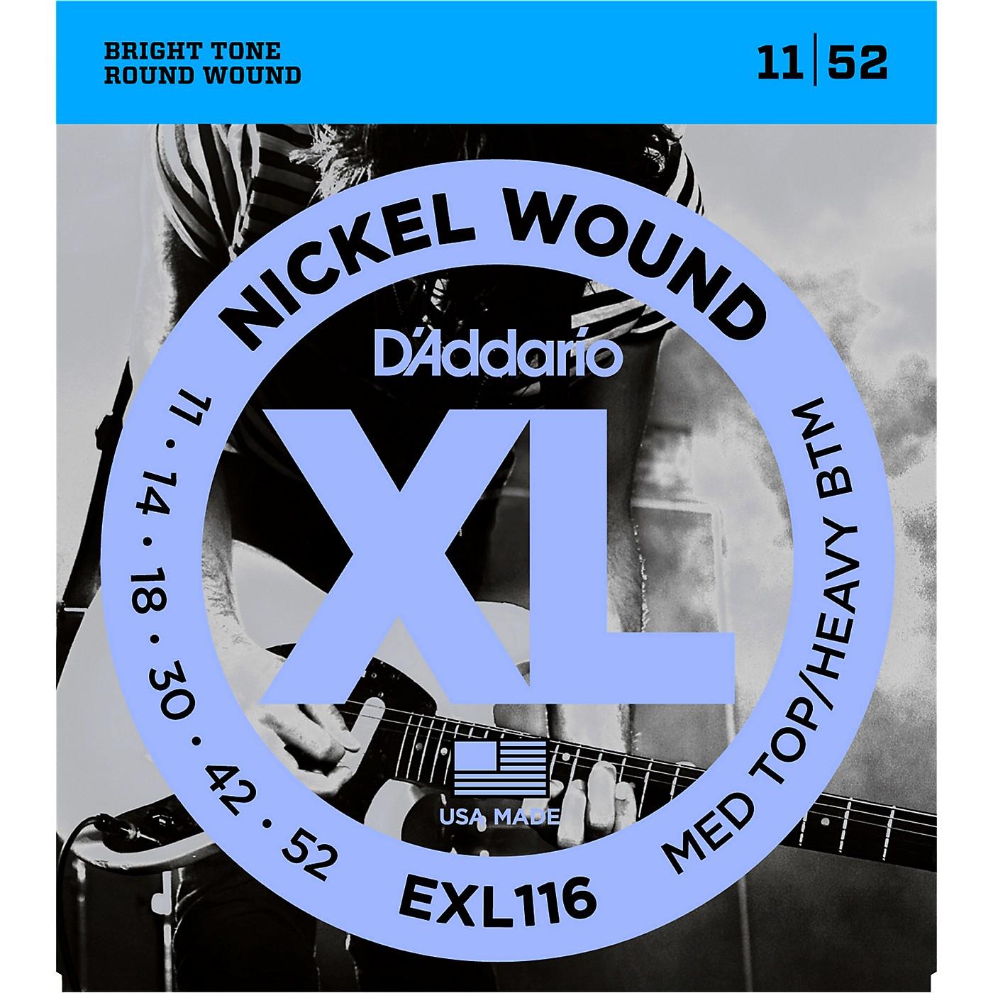 D'Addario EXL116 XL Electric Guitar Strings Medium Top/Heavy Bottom thumbnail