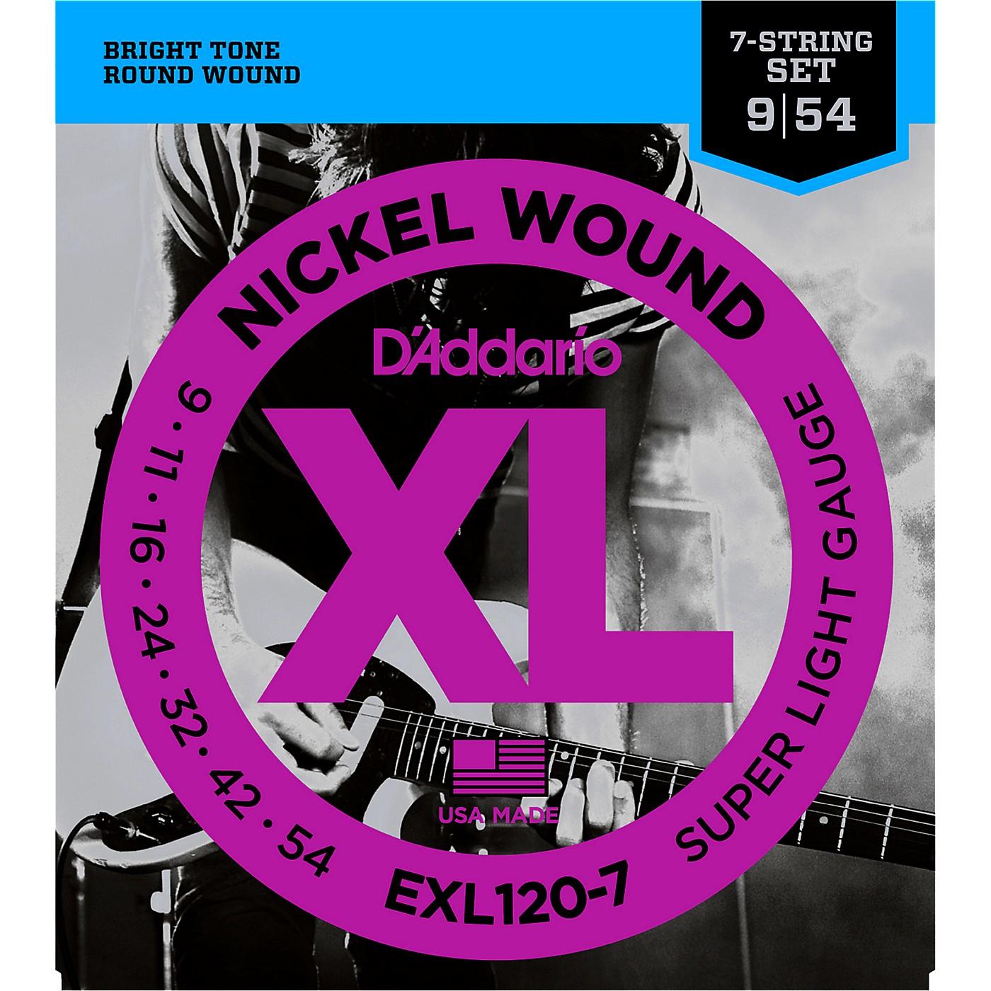 D'Addario EXL120-7 Super Lite 7-String Electric Guitar Strings thumbnail