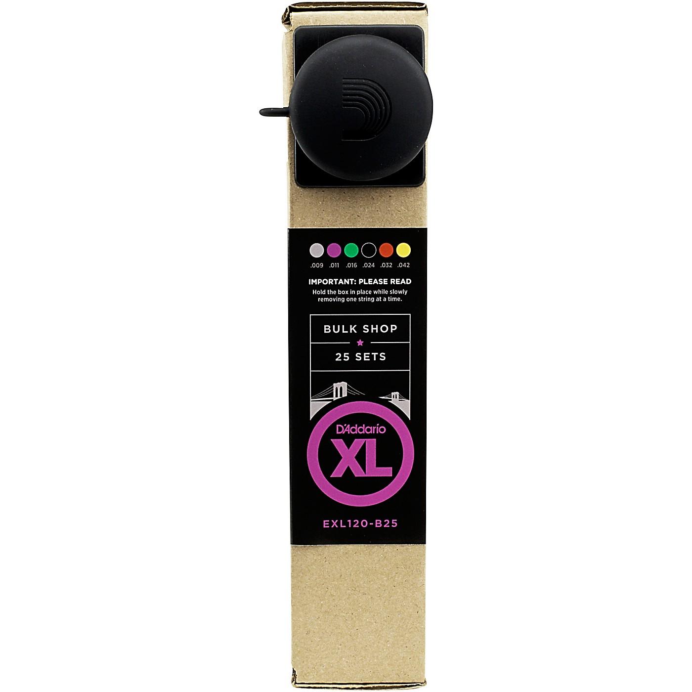 D'Addario EXL120 Guitar Strings Bulk -Pack Super Light  25 Sets thumbnail