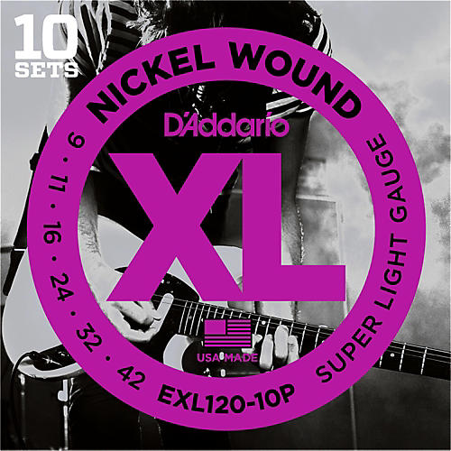 D'Addario EXL120 Nickel Super Light Electric Guitar Strings (10-Pack) thumbnail