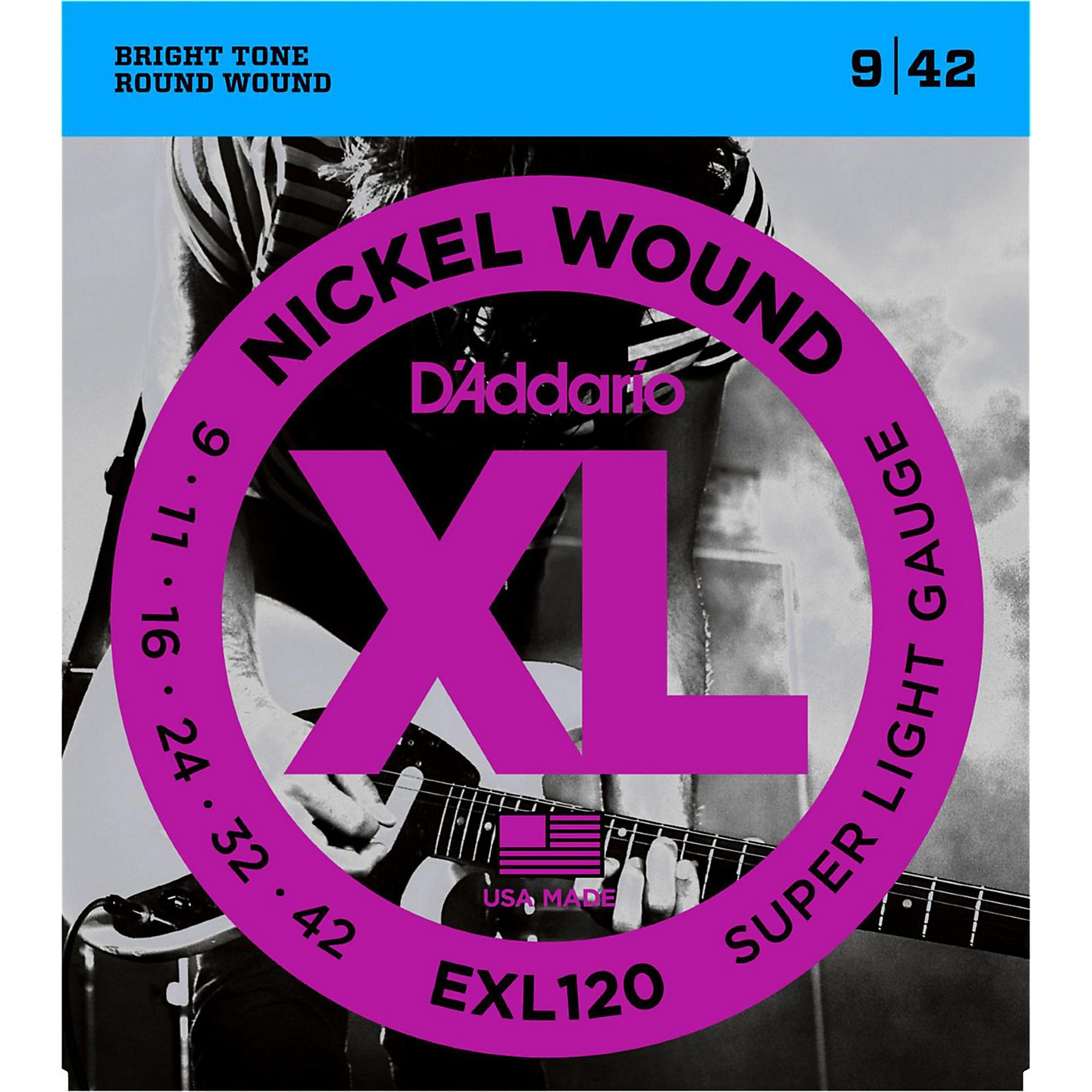 D'Addario EXL120 Nickel Super Light Electric Guitar Strings Single-Pack thumbnail