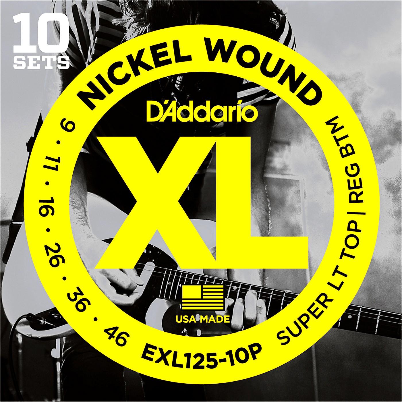 D'Addario EXL125 Super Light Top/Regular Bottom Electric Guitar Strings 10-Pack thumbnail