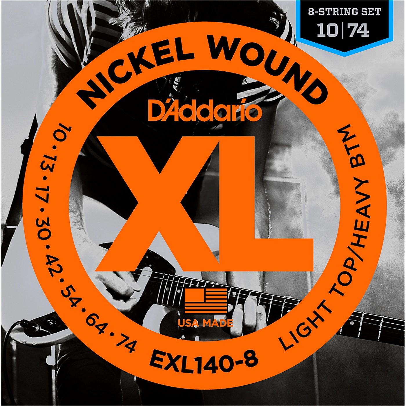 D'Addario EXL140 Light Top Heavy/Bottom 8-String Electric Guitar Strings thumbnail