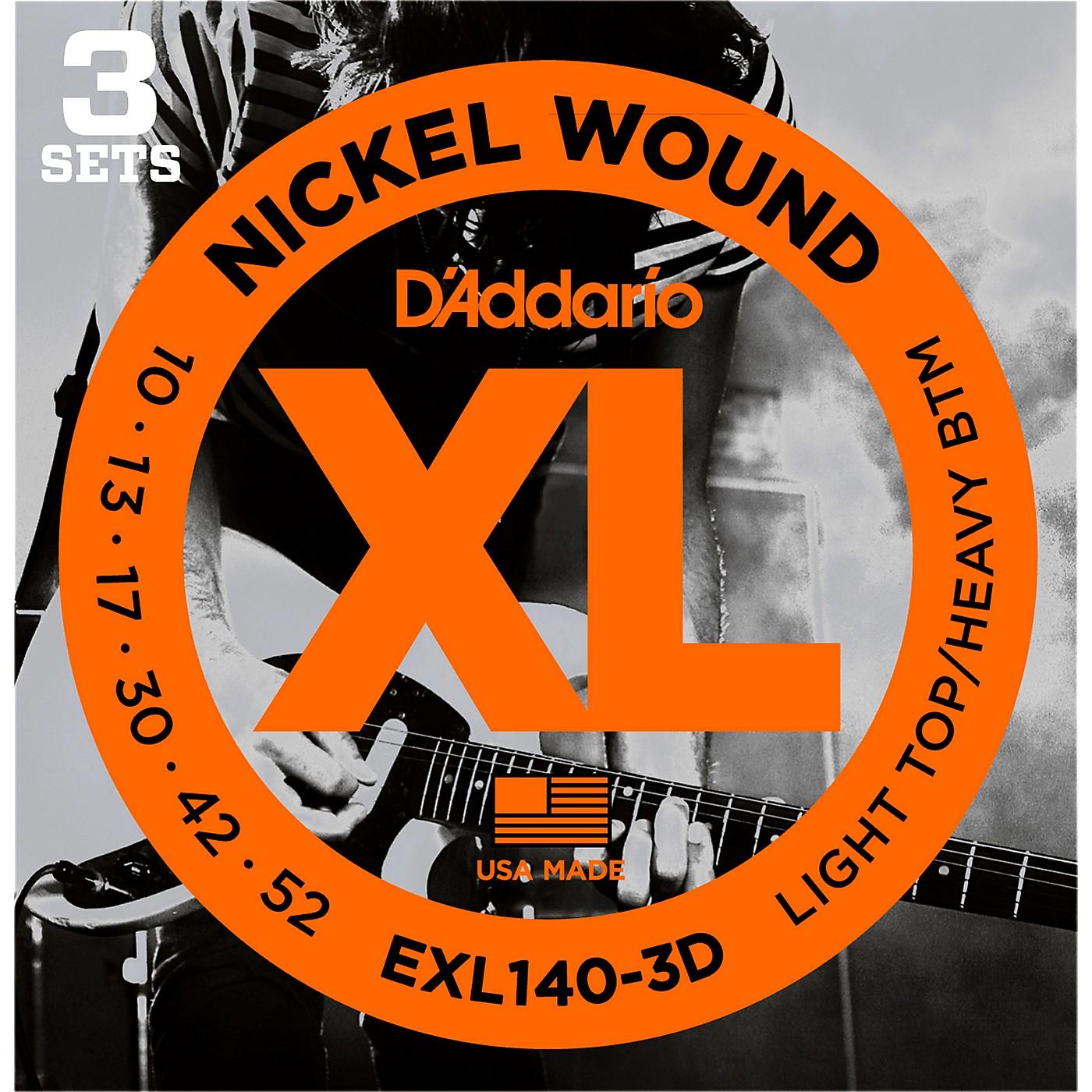 D'Addario EXL140 Light Top/Heavy Bottom Electric Guitar Strings 3-Pack thumbnail