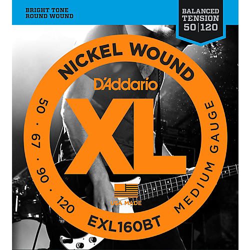 D'Addario EXL160BT Balanced Tension 50-120 Long Scale Electric Bass String Set thumbnail