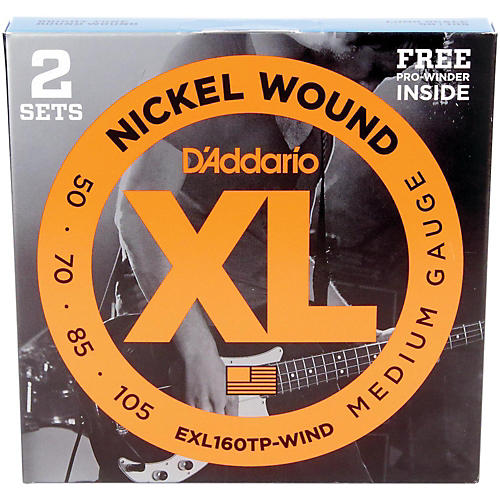 D'Addario EXL160TP Bass Strings Long (50-105) 2-Pack with FREE Holiday Pro-Winder thumbnail